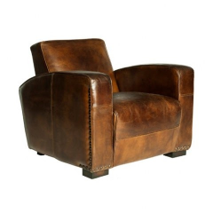 Club Leather Arm Chair