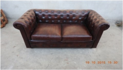 2 Seater Dark Brown